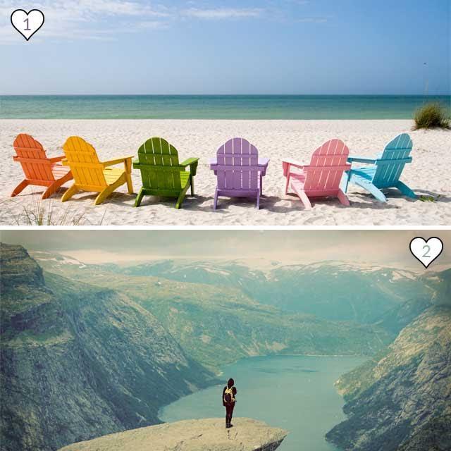 ¿Eres de mar o de montaña?