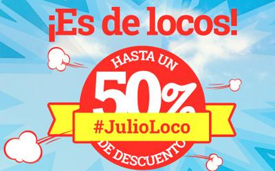¡Nos hemos vuelto locos! 50% de descuento en tu apartamento #JulioLoco